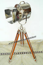 HOLLYWOOD STYLE VINTAGE MOVIE SPOT LIGHT FLOOR STANDING TRIPOD FOR HALLOWEENLAMP