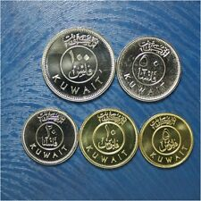 KUWAIT 2012 5 COINS HIGH GRADE COIN SET WITH SHIPS