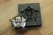 Punisher Skull Star coin  Silver Gold graphite mold Pewder foundry GLASS casting