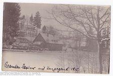 Foto AK Vogesen Beamten Casino in Heilig Blasien im Winter 1915