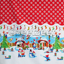 Michael Miller HOLLY JOLLY GNOMES Border Print Red Dot Quilt Fabric by the YARD