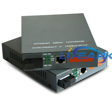 Fiber Optical Media Converter Single port 20KM HTB-GS-03/AB 1000Mbps 1Pair