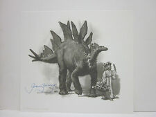 Dinotopia Print by Jame Gurney Hand Signed Black and White Print.