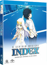 A Certain Magical Index . The Complete Season 1 . Anime . 3 Blu-ray . NEU . OVP