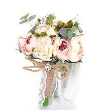 Wedding Ribbon Bridal Bouquet Flowers Silkflowers Hand Bouquet Home Decoration