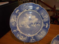 Wedgwood UNITED STATES NAVAL ACADEMY BLUE Sailboat Drill Dinner Plate