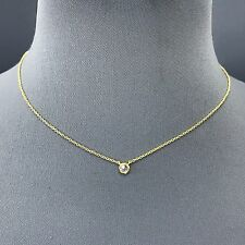 Cubic Zirconia Gold Dainty Clear Rhinestone Pendant Necklace  CNG15CR