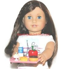School /Lunch Tray 5 Piece Doll Food For 18 in American Girl Dolls #S