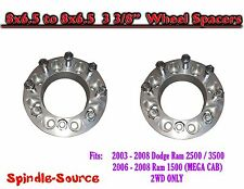 "03 - 2008 Dodge Ram 2500 3500 8 x 6.5 to 8x6.5 TWO Wheel Spacers 3-3/8"" Inch"