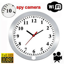 WiFi 1080P Spy Hidden Camera Wall Hanging Clock Video Recorder Motion Detection