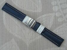 MORELLATO GENUINE LEATHER WATCH STRAP BAND WITH FOLDOVER CLASP 20MM RRP £19.95