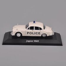 1/43 Scale Atlas Model White jaguar MKII Alloy Diecast Police Car Collection Toy