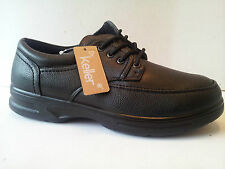 mens black dr keller comfy lace smart casual comfort walking shoes size 8/42