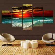 5 Panel Seaside Dusk Canvas Print Wall Art Painting Picture Home Decor Unframed