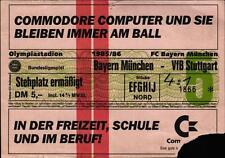 Ticket BL 85/86 FC Bayern München - VfB Stuttgart, Stehplatz ermäßigt