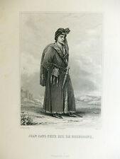 Gravure Colin d'après Steuben JEAN SANS PEUR Duc de Bourgogne