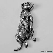 Meerkat Pewter Pin Brooch -British Hand Crafted- Suricate