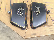 Yamaha xs650 side cover set - left right, black, xs 650 special