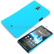 Aqua Blue Hard Back Cover Case Sony Xperia T TL  LT30p LT30a
