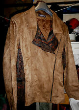 Blouson style PERFECTO - taillissime - Taille 56 - suédine camel - NEUF !!!