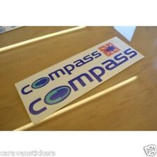COMPASS Rallye Rear Roof and Gas Locker Caravan Sticker Decal Graphic - SET OF