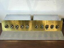 VINTAGE PAIR MCINTOSH C4 TUBE PREAMP GREAT CONDITION WITH OCTAL PLUGS