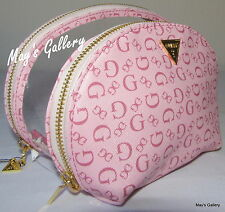 Guess Handbag Wallet Cosmetic Bag Make Up Case Purse Hand Bag Jewel NWT set of 2
