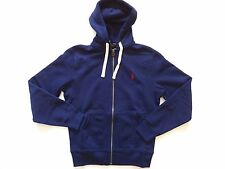 New Ralph Lauren Polo Cotton Blend Navy Pony Logo Fleece Hoodie Jacket sz XXL