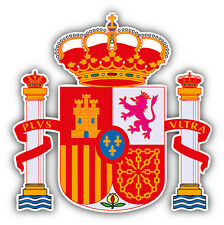Spain Coat Of Arms Car Bumper Sticker Decal 5'' x 5''