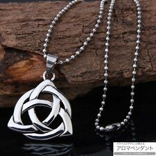 """Celtic Knot Triquetra Trinity Pewter Pendant with 21"""" Choker The Necklace Men's"""