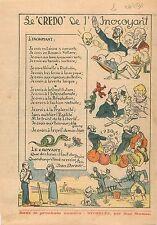 Caricature Crédo de l'Incroyant je Crois en Lénine Franc-Maçonnerie Egalité 1931