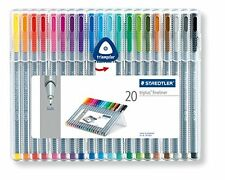 STAEDTLER Triplus Fineliner penne 334 SB20 suggerimenti Desktop BOX COLORI ASSORTITI