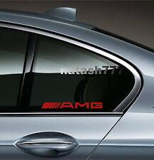 AMG Mercedes Benz  E55 CLS63 E63 Racinig Decal sticker emblem logo RED Pair