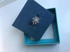 Sterling Silver Freshwater Pearl and Marcasite flower ring