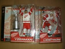 MCFARLANE NHL 6 STEVE YZERMAN NICKLAS LIDSTROM WHITE JERSEY DETROIT RED WINGS