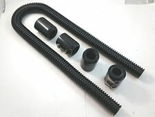 "48"" Black Stainless Flexible Radiator Hose Kit W/ Billet Clamp Covers Chevy Ford"