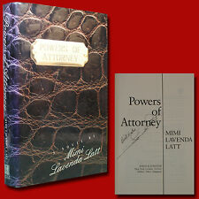Powers Of Attorney by Mimi Lavenda Latt (1993,HC,1st/1st) with Signature