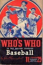 1943 Who's Who in the Major Leagues, Baseball magazine, Ted Williams, Red Sox~Gd