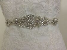 beaded wedding dress sash, Bridal Sash, Bridal Belt