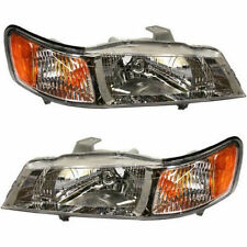99-04 Honda Odyssey Headlights Headlamps Pair Set Left LH & Right RH