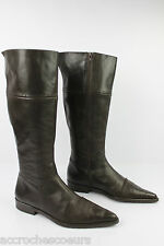 Bottes Cuir Marron Folded Leather T 38 BE