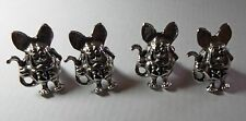 4 SILVER PLATED RAT FINK LICENSE PLATE BOLTS FREE SHIPPING IN USA
