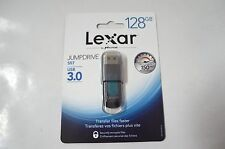 Lexar JumpDrive S57 128GB USB 3.0 Flash Drive - LJDS57-128ABNL (Black,Teal) New