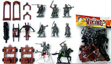 Toy Soldiers Viking Playset 8 Figures 2 Horses Catapult 1/32 Marx Castle Type