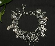 Tarot Charm Bracelet - Divination, Pagan, Wicca, Cards, Major Arcarna
