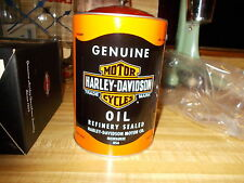 RARE ORIGINAL 2004 HARLEY DAVIDSON OIL CAN BANK MINT IN PLASTIC WRAPPER AND BOX!