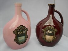 Dolfi  Brown and Pink Empty Brandy Bottles - France