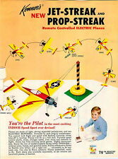 1966 ADVERT Kenner Toy Jet Streak Prop Streak Jet Plane Battery Operated RC
