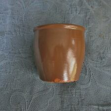 Antique Stoneware 1 Quart Crock with a Brown Glazed Interior,Exterior,& Rim