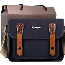 Canon Rebel T5i T4i T3i T2i T1i T5 T3 Canvas Camera Case Bag Shoulder Strap Navy